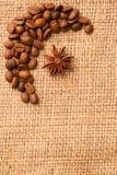 咖啡用茴香 免版税库存照片