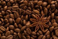 咖啡用茴香 免版税库存图片