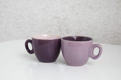 咖啡的两个杯子 免版税库存照片