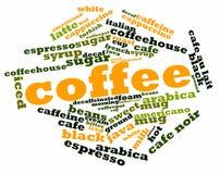 咖啡的字云彩 免版税库存照片