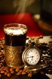 咖啡的时刻 库存照片