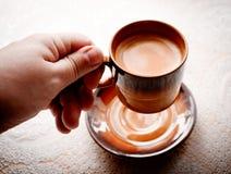咖啡的杯。 免版税库存图片