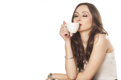 咖啡的气味 库存照片