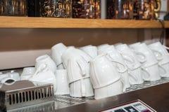咖啡的空的杯子 免版税库存图片