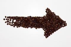 从咖啡的箭头 库存图片