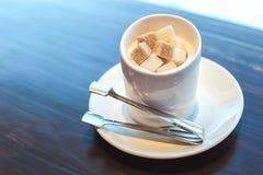 咖啡的糖 免版税库存照片