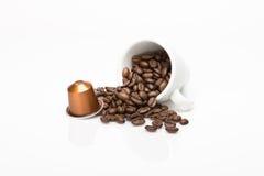 咖啡的胶囊 免版税库存照片