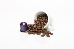 咖啡的胶囊 免版税图库摄影