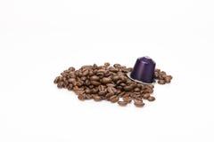 咖啡的胶囊 免版税库存图片