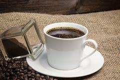 咖啡的葡萄酒照片特写镜头 库存图片