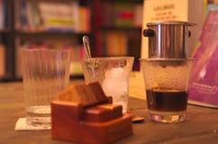 咖啡的Waitting 免版税库存照片