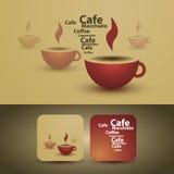 咖啡盖子杯子设计传单 免版税库存照片