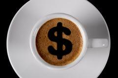 咖啡盖帽 免版税库存图片