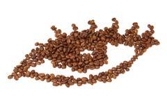 咖啡眼睛 免版税库存图片