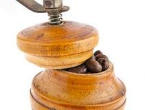 咖啡研磨机和咖啡 免版税图库摄影