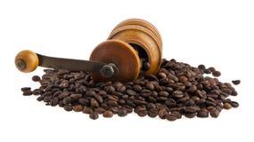 咖啡研磨机和咖啡 图库摄影