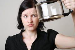 咖啡空的罐 免版税库存照片