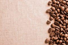 咖啡粒横幅 免版税库存照片
