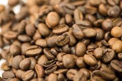 咖啡粒特写镜头 库存图片