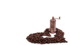 咖啡粒重点磨房 库存照片