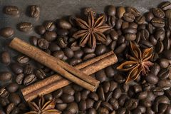 咖啡粒 图库摄影