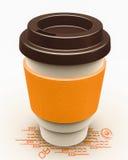 咖啡纸杯 库存照片