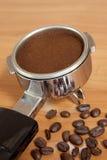 咖啡组设备 库存照片