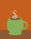 咖啡绿色杯子 免版税库存照片