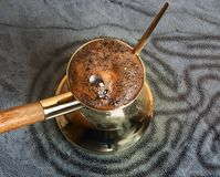 咖啡罐土耳其 库存图片