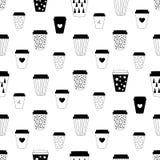 咖啡翻转者无缝的样式 向量例证