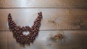 咖啡胡子 免版税库存图片