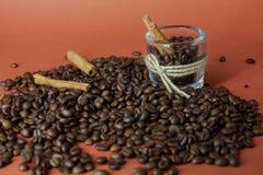 咖啡芳香混合 免版税库存照片