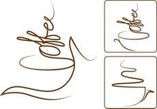 咖啡芳香 免版税库存照片