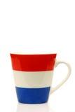 咖啡荷兰语标志杯子 免版税库存照片