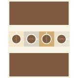 咖啡菜单设计 免版税库存图片