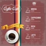 咖啡菜单设计 免版税图库摄影