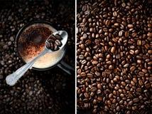 咖啡蒙太奇 图库摄影