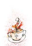 咖啡蒸汽 免版税库存照片