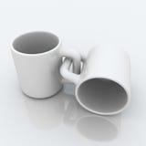 咖啡被连接的杯子 库存照片