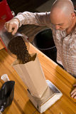 咖啡装箱 免版税库存图片