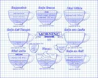 咖啡计划Ñ  appucino, crema, leche,拿铁,维也纳 库存照片