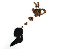 咖啡认为 免版税库存图片