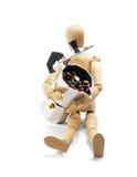 咖啡设备时装模特木头 免版税库存照片