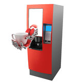 咖啡设备自动贩卖机 免版税图库摄影