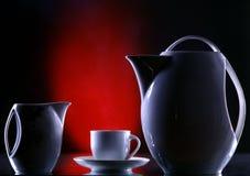 咖啡设备表 免版税图库摄影