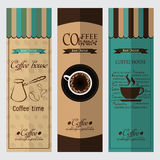 咖啡设计元素的汇集 免版税库存照片