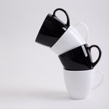 咖啡设计四杯子 免版税库存照片