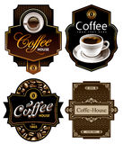 咖啡设计四模板 免版税库存照片