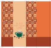 咖啡设计程序包端正方形 免版税库存照片