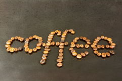 咖啡豆。 库存图片